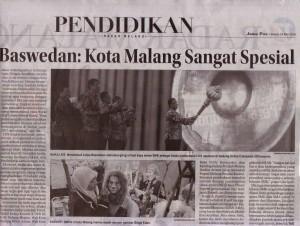 Anis Baswedan; Kota Malang Sangat Spesial Jawa Pos Radar Malang 24 Mei 2016