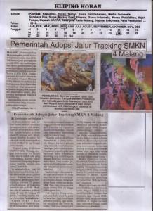 Pemerintah Adopsi Jalur Tracking SMKN 4 Malang Koran Malang Post, 24 Mei 2016