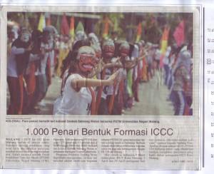 1.000 Penari Bentuk Formasi ICCC. Malang pos 30/2/16