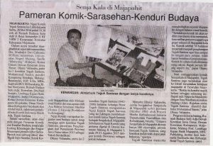 Pameran Komik-Serasehan-Kenduri Budaya. Malang Post, 28 Mei 2016