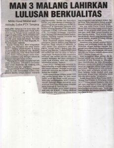 LULUSAN BERKUALITAS. Malang Post 28 Mei 2016