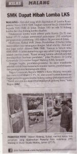 SMK Dapat Hibah Lomba LKS. Koran Surya 28 Mei 2016