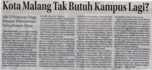 Jawa pos Radar Malang 21 Desember 2016