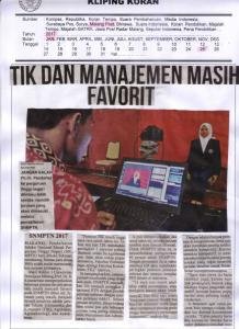 TIK DAN MANAJEMEN MASIH FAVORIT. Malang Post 25 Januari 2017