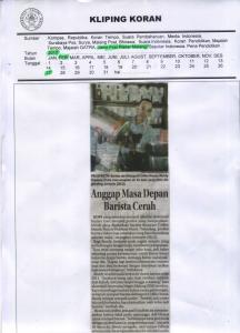 Anggap Masa Depan  Barista Cerah, Jawa Post Radar Malang, 27 Februari 2017