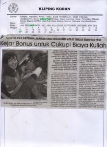Kejar Bonus untuk Cukupi Biaya Kuliah, Malang Post 27 Maret 2017 Hal. 27
