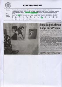 Rupa-Rupa Lukisan  Karya Para Pemula, Jawa Pos Radar Malang 22 Maret 2017