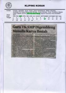 Guru TK-SMP Digembleng Menulis Karya Ilmiah, Jawa Pos Radar Malang 22 Maret 2017