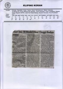 Seleksi Model MFM2017 Lebih Ketat, Jawa Pos Radar Malang 28 Maret 2017