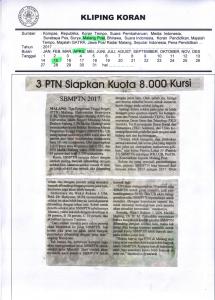 3 PIN Siapkan Kuota 8.000 Kursi, Malang Post 15 April 2017