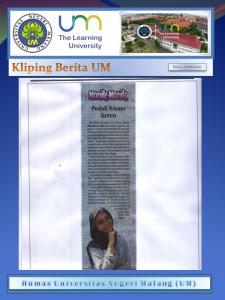 Peduli Wisata  Keren  ,Jawa Pos Radar Malang 21 Mei 2017