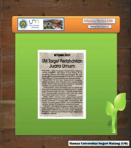 UM Target Pertahankan Juara Umum , Malang Post 21 Juni 2017
