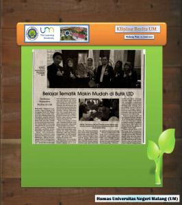 Belajar Tematik Makin Mudah di Butik LTD, Malang Post 22 Juni 2017
