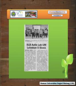 SLB Autis Lab DM  Luluskan 5 Siswa , Surya 17 Juni 2017.._1