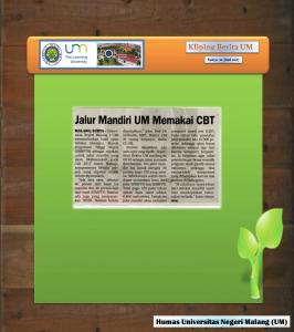 Jalur Mandiri UM Memakai CBT, Surya 22 Juli 2017