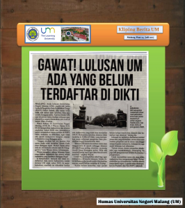 GAWAT! LULUSAN DM  ADA YANG BELUM  TERDAFTAR Dl DIKII , Malang Post 24 Juli 2017
