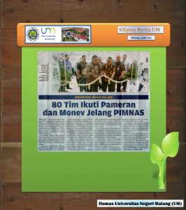 80 Tim Ikuti Pameran  dan Monev Jelang PIMNAS, Malang Post 13 Juli 2017