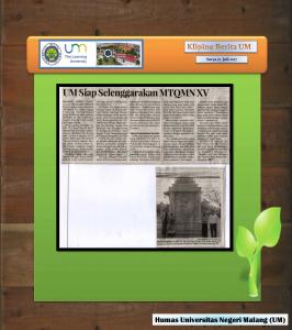 UM Siap Selenggarakan MTQMN XV, Surya 22 Juli 2017...