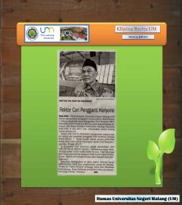 Rektor Cari Pengganti Hariyono , Surya 24 Juli 2017