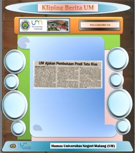 UM Ajukan Pembukaan Prodi Tata Rias, Surya 13 September 2017..