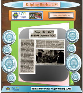 Dosen UM Latih 70  Seniman Keramik India , Malang Post 29 Desember  2017