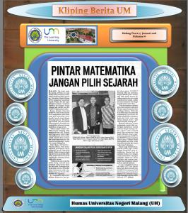 PINTAR MATEMATIKA JANGAN PILIH SEJARAH, Malang Posrt 27 Januari 2018