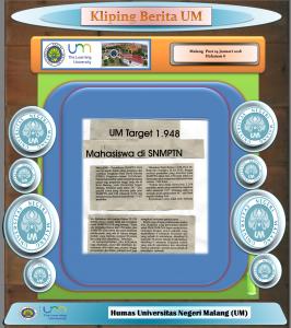 UM Target 1.948, Malang Post 24 Januari 2018