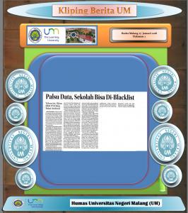Palsu Data, Sekolah Bisa-Blacklist, Radar Malang 27 Januari 2018