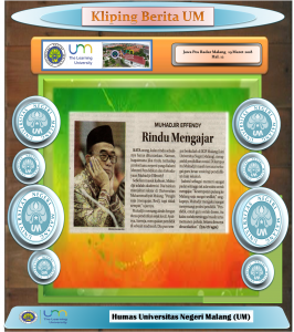 MUHADJIR EFFENDY Rindu Mengajar, Jawa Pos Radar Malang 19 Maret 2018
