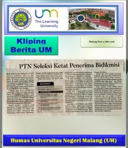 PTN Seleksi Ketat Penerima Bidikmisi, Malang Post 17 Mei 2018