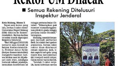 Media Cetak Memo X 25 September 2018