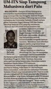 Media Cetak Jawa Pos Radar Malang 8 Oktober 2018