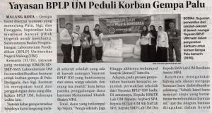 Media Cetak Jawa Pos Radar Malang 1 November 2018