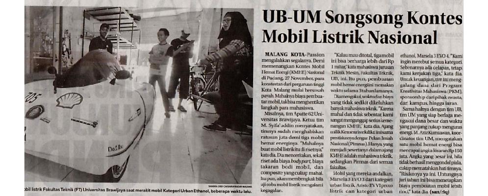 Media Cetak Jawa Pos Radar Malang 8 November 2018