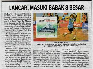 Media cetak Malang Post 8 November 2018